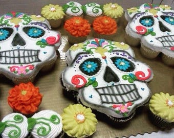 Day of the Dead / Dia de los Muertos Cupcake Cake