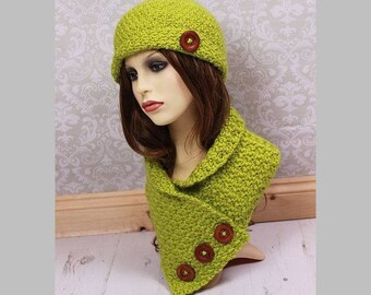 CROCHET PATTERN For Ladies Hat & Neck Warmer U.K, U.S.A  PDF 363- Not Clothes