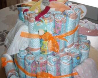 Newborn baby gift diaper cake