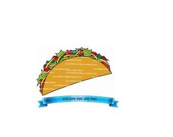 taco clipart etsy rh etsy com taco clipart vector taco clipart black and white