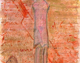 Lorca, Blood Wedding. A3 Giclee print for theater lover. Art brut, raw art, outsider art