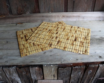 Set of 2 Vintage Bamboo Place Mats