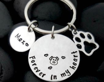 Dog Memorial Keychain - Dog Loss Keychain - Pet Memorial Keychain - Pet Loss Gift - Pet Remembrance Jewelry - In Memory Keychain