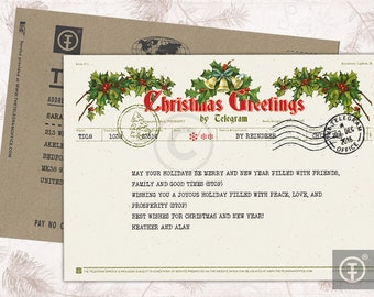 Christmas Telegram / Christmas Greetings