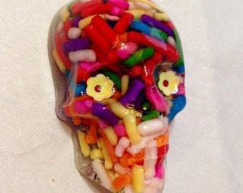 Candy Skull Brooch