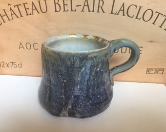 Ceramic Mug Blue Crystal