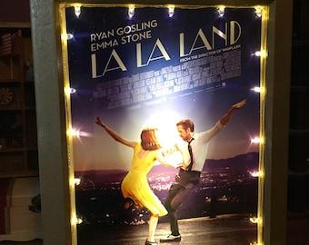 La La Land Movie Poster with Lights & Sound Mini Marquee