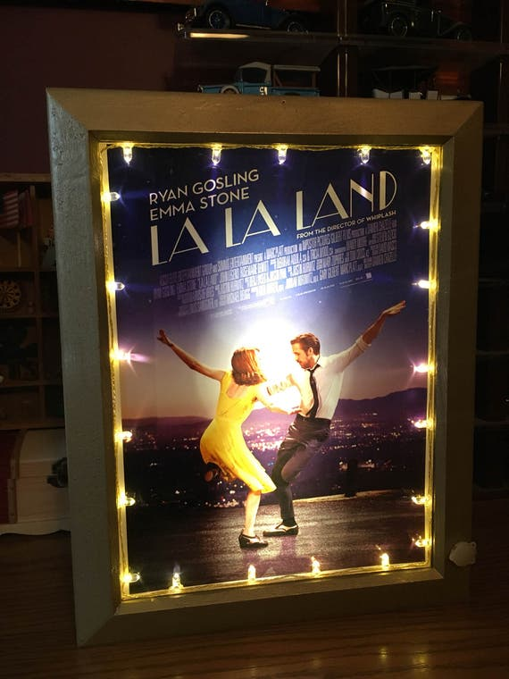 La La Land Movie Poster with Lights & Sound Mini Marquee