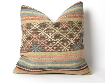 boho pillow, decorative pillow, throw pillow, bohemian pillow, pillow cover, boho decor, decorative pillows, throw pillows, kilim pillow