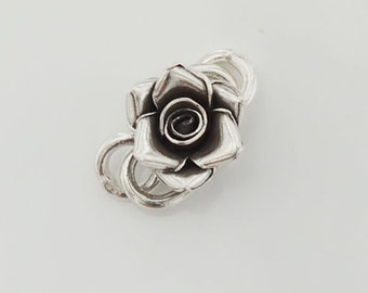 1 of Karen Hill Tribe Silver Rose Clasp 16mm. :ka3078