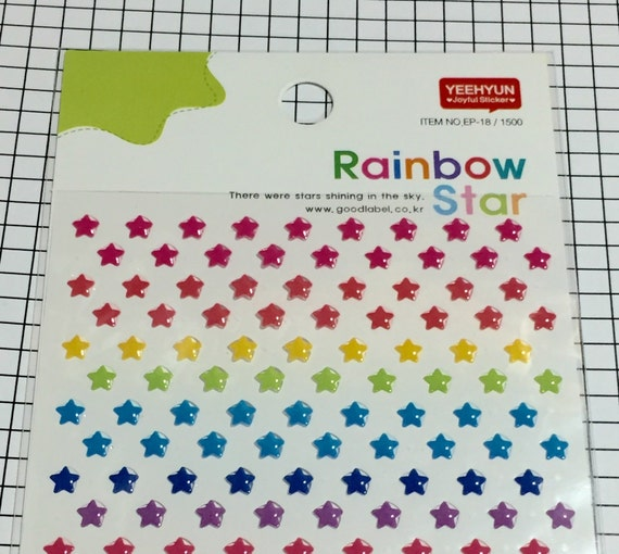 Tiny star stickers 1 sheet yeehyun stickers small stickers cute stickers color seal star stickers in assorted color 150x95mm from xsugarhuix on etsy