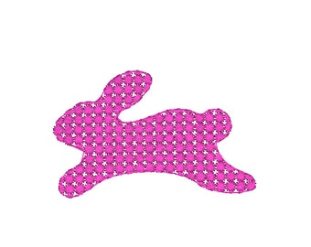 Dot Filled Easter Bunny Machine Embroidery Design, Easter embroidery design, bunny embroidery pattern, Easter machine embroidery