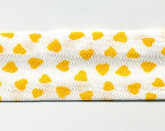 Bias heart yellow by the yard