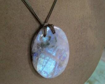 1 Pendant Rainbow Moonstones   beads 25, Grams 7X37X50  MM
