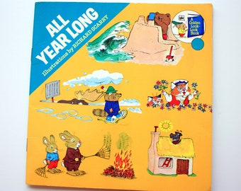 All Year Long Illustrations by Richard Scarry / Vintage Richard Scarry / Golden Look Look Books