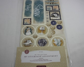 Close To My Heart Stickers X7103C My Stickease Assortment Aspen Christmas Winter RETIRED
