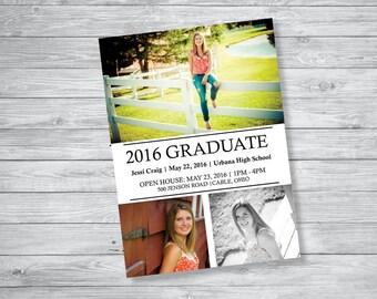 Collage Graduation Announcement and Invitation