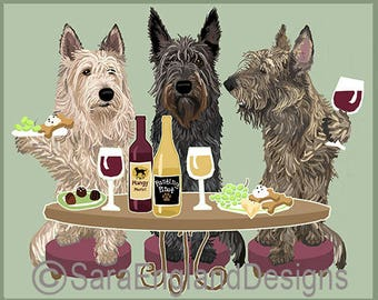 Dogs WINEing - Berger Picard