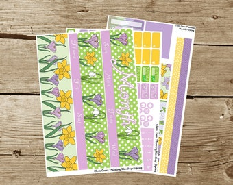Choose your Month(ly) kit-- Spring (for use in Erin Condren Life Planner)