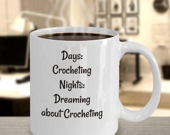 Crochet mug gift for her
