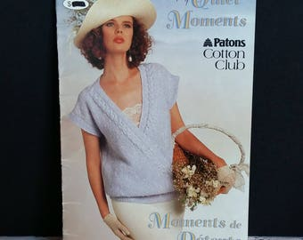 Quiet Moments 7 Patterns Knitting Sweaters  By Patons