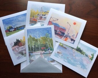 Chesapeake Bay Scenes Note Cards with Envelopes (Series 2)