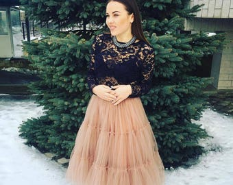 Bridesmaid Skirts, Special occasion, Casual, Tea Length Tulle Skirt/ Tutu Skirt.