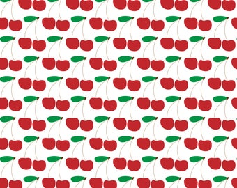 Cherries, seamless pattern, scrapbooking, digital paper, background, 12x12 inches