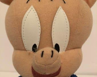 Vintage Looney Tunes Porky Pig Plush 11' Doll