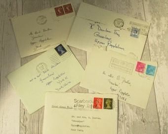 5 Vintage Handwritten Personal Letters ~ 1960s/1970s