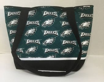 Philadelphia Eagles Quilted Purse - Quilted Tote - Market Bag - Shopping Bag - Beach Bag - NHL Purse - NHL Tote - Shoulder Bag - Eagles Tote