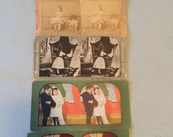 Rare Pres. McKinley Stereoscope Slide and 4 others (1800s)