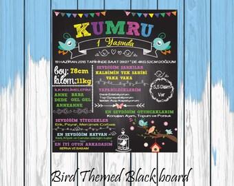 Bird Themed Blackboard