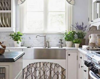 Kitchen Valance Scalloped Cornice Valence Custom Fabric window valance custom length and width kitchen valence cornice fabric cornice white