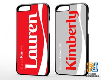 PERSONALISED COCA COLA Diet Coke Zero Inspired Custom Name Gift Case For iPhone 7 6s 6 5  se 5c Samsung S6 S7 S8 Plus Edge Hard Case Cover
