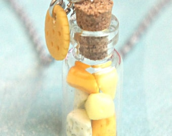 assorted cheese necklace-miniature food jewelry