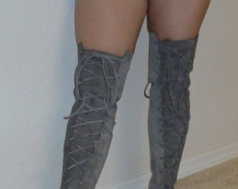 Thigh high boots Over the knee Boots custom handmade moccasins