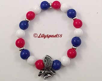 Gemstone Beaded Bracelet, Gift for Him, Bracelets, Jade, Silver, Eagle, Art Nouveau, Jewelry, Bohemian, Birthday, Gypsy, Boho