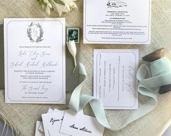 Venue Sketch, Venue Illustration, Sketched Wedding Venue with Custom Wedding Crest