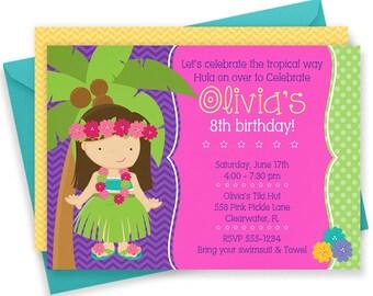 Luau Invitation, Hawaiian Invitations, Luau Birthday Invitation, Luau Party, Luau Party Invitations, Luau Invite, Luau Birthday, Luau | 558