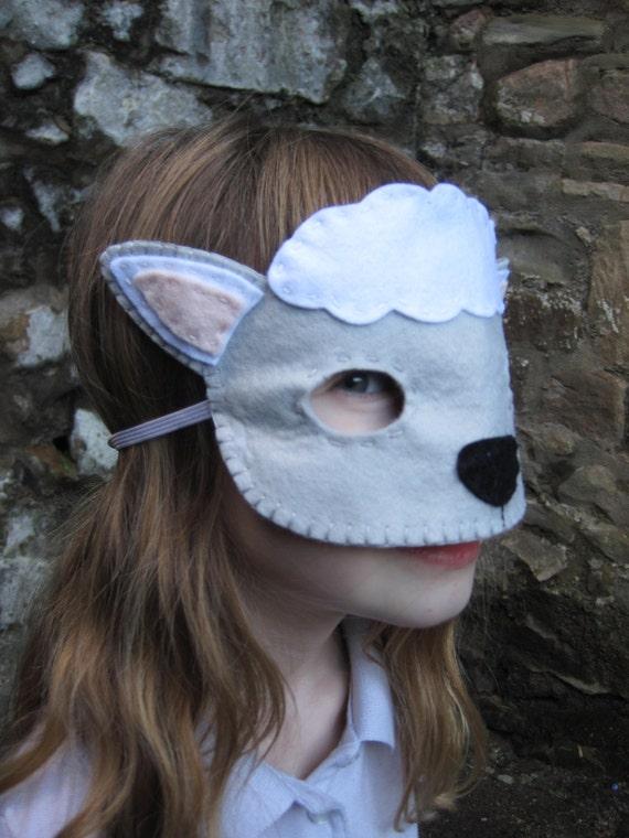 PDF PATTERN: Lamb mask sewing tutorial Easter felt DIY