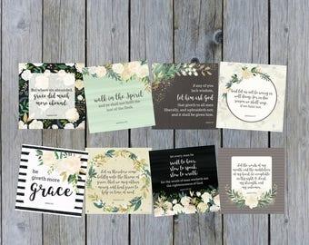 KJV, Mom, Scripture Cards, Motherhood,Parenting, New Mom, Gift, Mother's Day, Baby Shower, Bible Verses, Grace, Encouragement, Truth Squares
