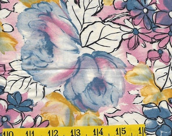 Fat quarter, cotton fabric, floral print, multi colors, perfect for your quilt,