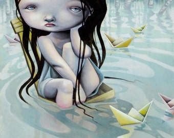 """Epson Limited edition Giclee print """"Send more boats"""""""