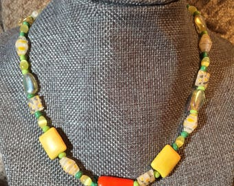 Carrot, Easter Necklace, yellow necklace, kids necklace, child jewelry, Easter, carrot, spring, Easter basket