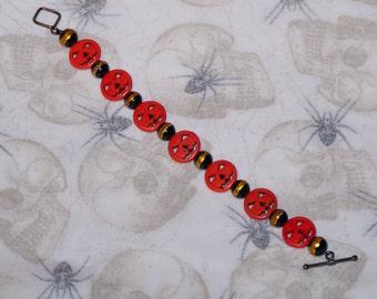 Pumpkin Candy Stripe Bracelet