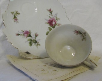Shabby Chic  Luncheon / Hostess Set for 4 by Bondware L&M - Roses