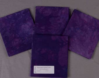 Purple Hand Dyed Quilting Cotton Fat Quarter