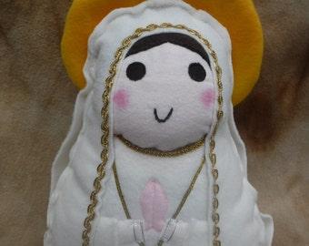 Saint Doll Our Lady of Fatima Virgin Mary Soft Catholic Religious Toy