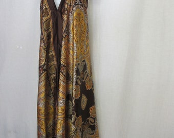 Halter Top Dress Boho Paisley Dress Backless Dress Scarf Dress